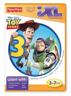 Toy Story 3 Disney Pixar Game Fisher Price iXL Software Learning System Sealed  #FisherPrice