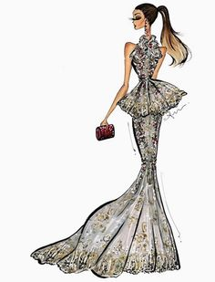 inspired by Chrissy Teigen @marchesafashion #goldenglobes #redcarpet by @anumt| anumt.etsy.com| Be Inspirational ❥|Mz. Manerz: Being well dressed is a beautiful form of confidence, happiness & politeness