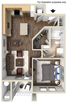 Shire Floor Plan 712 sq ft http://www.gatewayat2534.com/