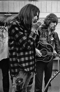 Crosby, Young, Nash... backstage in Minnesota, 1970 / Photo by Henry Diltz