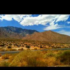 Drove into Palm Springs from San Diego ... windy