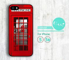 London Telephone Booth iPhone 5 case iPhone 5s case by Casiland, $6.99