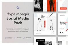 Hype Monger Social Media Pack Pretty bored with the abundance of the color solutions for social media templates we've re-discovered and fallen for Scandinavian minimalism. Simple shapes and color palette, pure logic and comprehensive design: everything you tend to put in value has been masterly embraced in our Hype Monger Social Media Pack.