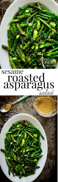sesame roasted asparagus salad - Healthy Seasonal Recipes