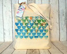 world map hearts cotton tote bag by ceridwen hazelchild design | notonthehighstreet.com