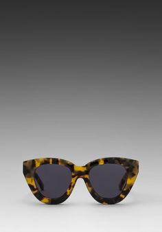 love the gold arrows: KAREN WALKER Anytime in Crazy Tortoise/Gold at Revolve Clothing - Free Shipping!