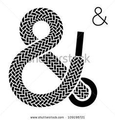 ampersand | Vector Shoe Lace Ampersand Symbol - 109198721 : Shutterstock