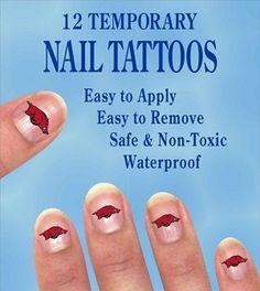 Razorback nail art :)