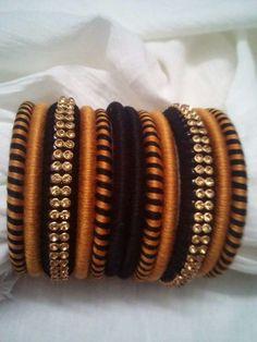Silk Thread Bangles Design, Silk Bangles, Thread Jewellery, Textile Jewelry, Beaded Jewelry, Flower Jewellery For Haldi, Bangles Making, Thread Art, Jewelry Patterns