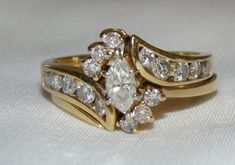 Engagement & Wedding 7.30ct Natural Diamond Yelow Topaz 14k White Gold Wedding Aniversary Tiara Crown Packing Of Nominated Brand Bridal & Wedding Party Jewelry