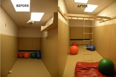 Indoor Therapy Gym installed in Barrie, ON Kids Indoor Gym, Indoor Jungle Gym, Kids Gym, Indoor Playroom, Indoor Monkey Bars, Sensory Rooms, Sensory Activities, Sensory Tubs, Sensory Play