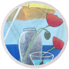 Martini On The Beach Round Beach Towel for Sale by Vesna Antic