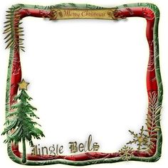 XmasFrame | Digital Scrapbooking at Scrapbook Flair ❤ liked on Polyvore featuring christmas, frames, backgrounds, xmas, christmas frames, borders, filler and picture frame