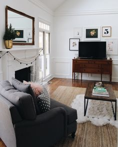 Cozy Family Room Tour + TV Gallery Wall