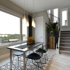 contemporary dining room by Pillar Custom Homes, Inc.