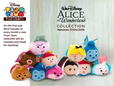 The new Alice in Wonderland Tsum Tsum collection coming to Europe!
