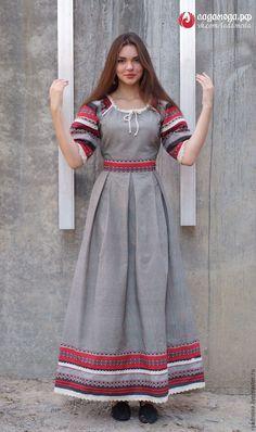 Купить Платье Этника - славянский стиль, славянское платье, русский стиль, стиль бохо