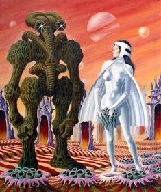"""Dedicated to all things """"geek retro:"""" the science fiction/fantasy/horror fandom of the past including pin up art, novel covers, pulp magazines, and comics. Art Pulp Fiction, Art Science Fiction, Pulp Art, Trippy, Arte Sci Fi, 70s Sci Fi Art, Arte Tribal, Classic Sci Fi, Alien Art"""
