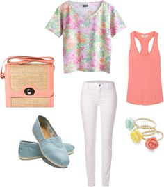 Floral, created by ms-e-kelley on Polyvore