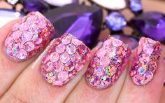 Polish All the Nails: Pink Mega-Sparkly Nails!