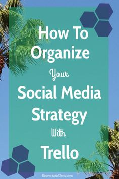 How To Organize Your Social Media Strategy With Trello. When building a business, consistency is key. Social media is no different, it should be approached in a planned and strategic way. I'm sharing how I use Trello to organize my social media schedule. Trello template + How To Video + Worksheet so you can get started on getting organized and consistent with your social media.