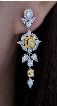 Loving these diamond earrings 😍😍💎 Ear Jewelry, Gemstone Jewelry, Diamond Jewelry, Diamond Earrings, Jewelery, Fine Jewelry, Jewelry Watches, Bridal Earrings, Bridal Jewelry