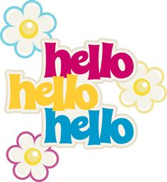 Silhouette Design Store: Ppbn Hello Title With Flower Accents Good Day Quotes, Good Morning Quotes, Morning Gif, Good Morning Greetings, Good Morning Good Night, Say Hi, Say Hello, Hello Pictures, Hello Quotes