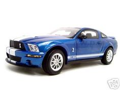 2007 Shelby Mustang GT 500 Blue 1/18 Diecast Model Car by Shelby Collectibles