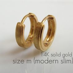 Mens Earrings Gold Hoop 14k Solid Medium By 360jewels 199 00