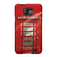 Classic British Red Telephone Box Samsung Galaxy S2 Cover