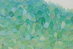 彩り緑  2013年-48-野地美樹子 Traditional Paintings, Japanese Artists, Watercolor Background, Tree Art, Illustration Art, Illustrations, Painting & Drawing, Print Patterns, Wallpaper