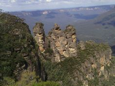 The Three Sisters in Katoomba, NSW. Well worth a visit