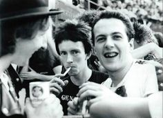 Rat Scabies of The Damned, Topper Headon & Joe Strummer of The Clash as documented by Patrick Fontaine at Mont de Marsan '77 festival.