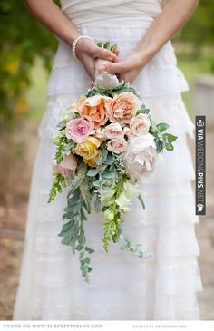 Pastel bouquet   CHECK OUT MORE IDEAS AT WEDDINGPINS.NET   #weddings #weddingflowers #weddingbouquets #bouquets