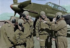Italian Junkers Ju 87B Stuka & pilots