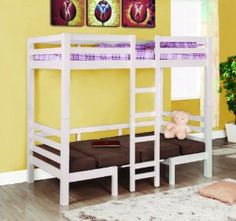 Converts from bunk to table and seats on the bottom.