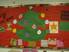 Front learning board display for Christmas by the wonderful Miss Carissa