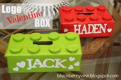 Lego Valentine Box. @Jenni Juntunen Juntunen - could we make Allie make this her box this year?