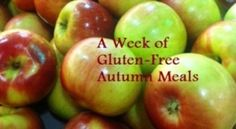 A Week of Gluten Free Autumn Meals - 5 menus, 14 recipes, all free from: gluten, dairy/casein, soy, peanuts, tree nuts, some egg-free or have egg-free option, most corn-free.