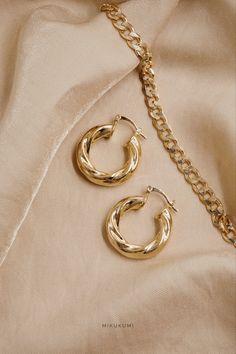 18K Gold Filled Hoop Earrings. 100% hypoallergenic, tarnish resistant, lead and nickel free