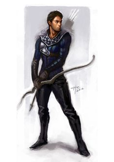 I hope he doesn't intend to try and shoot that arrow from his unstrung bow... Male Archer by Rustveld.deviantart.com on @deviantART