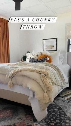 Small Room Bedroom, Room Ideas Bedroom, Cozy Bedroom, Home Decor Bedroom, Small Rooms, Guest Room Bedding Ideas, Adult Bedroom Ideas, Tranquil Bedroom, Bedding Decor