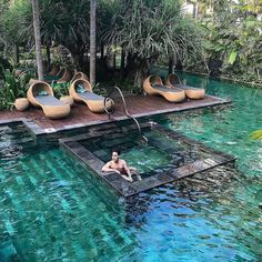 Get inspiration for your next trip and tag your travel buddy☀️ . Hotel Indigo, Bali ⠀ Photography by Backyard Pool Designs, Swimming Pool Designs, Backyard Landscaping, Landscaping Ideas, Beautiful Places To Travel, Beautiful Hotels, Wonderful Places, Piscina Hotel, Moderne Pools