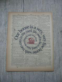 Our House Song Lyric Print    Crosby Stills by TexasGirlDesigns, $12.00