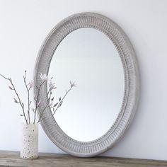 Grey Grand Oval Wall Mirror - Primrose & Plum   Stylish Mirrors - Wall Mirrors, Floor Length Mirrors, Leaner Mirrors, Round Wall Mirrors, Oval Wall Mirrors