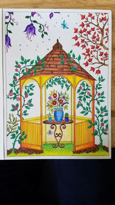 Johanna Basford Secret Garden postcard