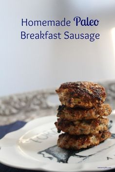 Prep your breakfast for the week by making a batch of these delicious paleo chicken sausages. Super easy prep and so flavorful!