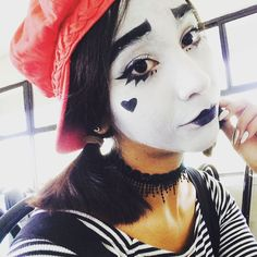 Mime Makeup, Halloween Face Makeup, Clowns, Female, Costume Ideas, Instagram, Budget, Imperial Crown