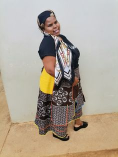 Xhosa Attire, Shweshwe Dresses, African Dress, Traditional Dresses, Pride, Kimono Top, Clothing, How To Wear, Tops