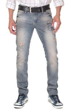 5 Pocket Jeans straight fit    Diese lässige Denim von CATCH in modischem Used-Look liegt voll im Trend. Der Bleached-Effekt wertet die Jeans in klassischem Five-Pocket-Schnitt zusätzlich auf. Das hochwertige Baumwollmaterial sorgt für ein angenehmes Tragegefühl und besten Tragekomfort. Die Straight Fit Jeans sorgt für tolle Abwechslung in jedem Outfit und ist perfekt in Kombination mit einem l...